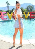 Joy Corrigan attends the Revolve Festival at Coachella in Indio, California