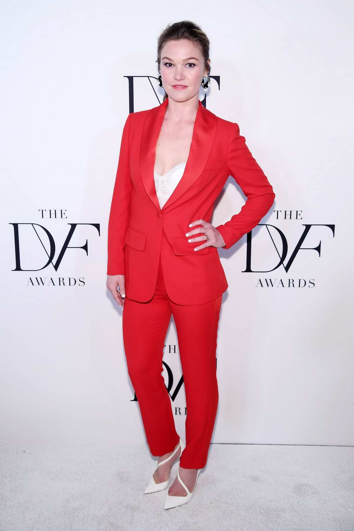 Julia Stiles attends 10th Annual DVF Awards in New York City