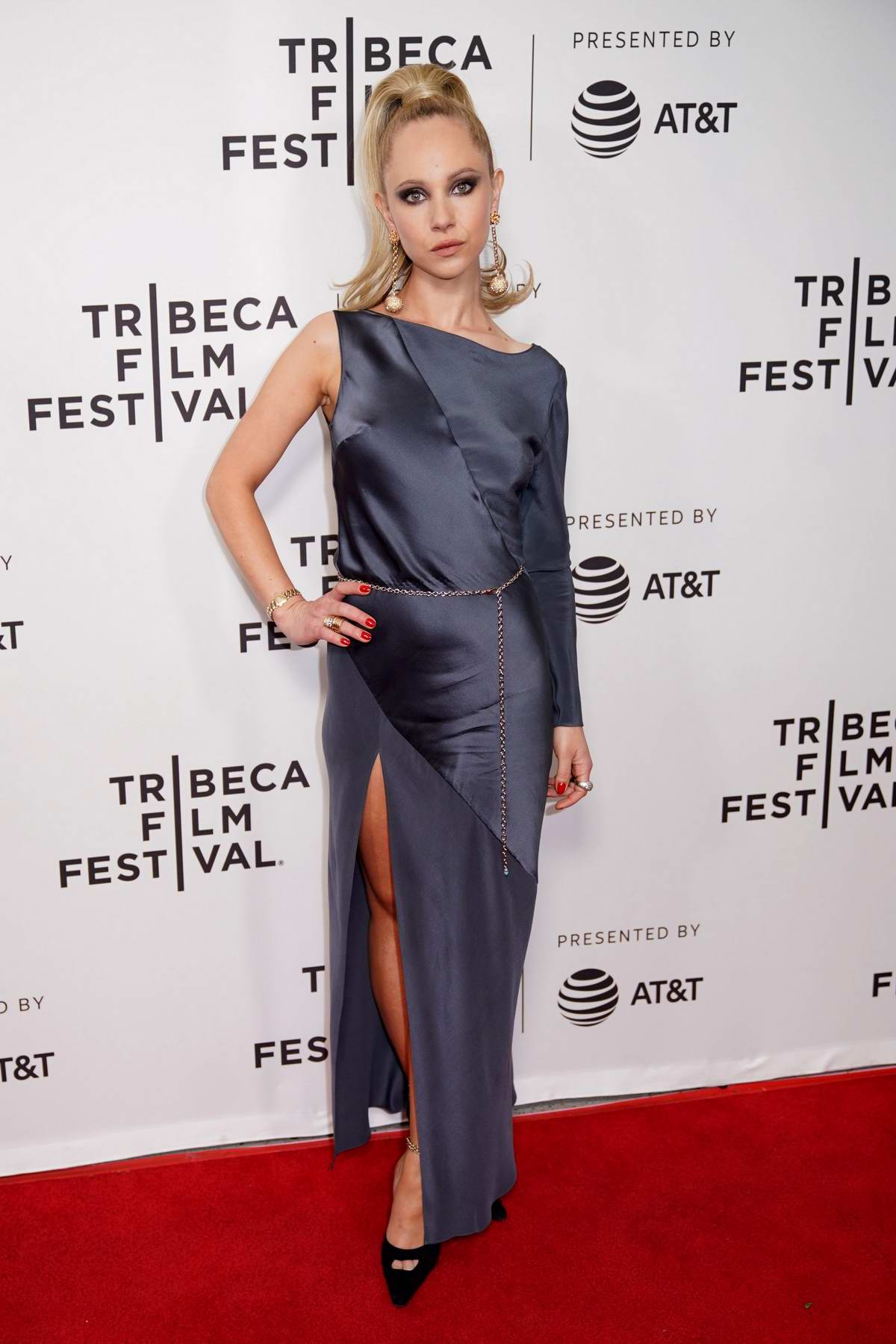 Juno Temple attends 'Lost Transmissions' premiere during 2019 Tribeca Film Festival in New York City