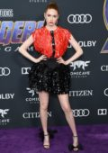 Karen Gillan attends the World Premiere of 'Avengers: Endgame' at the LA Convention Center in Los Angeles