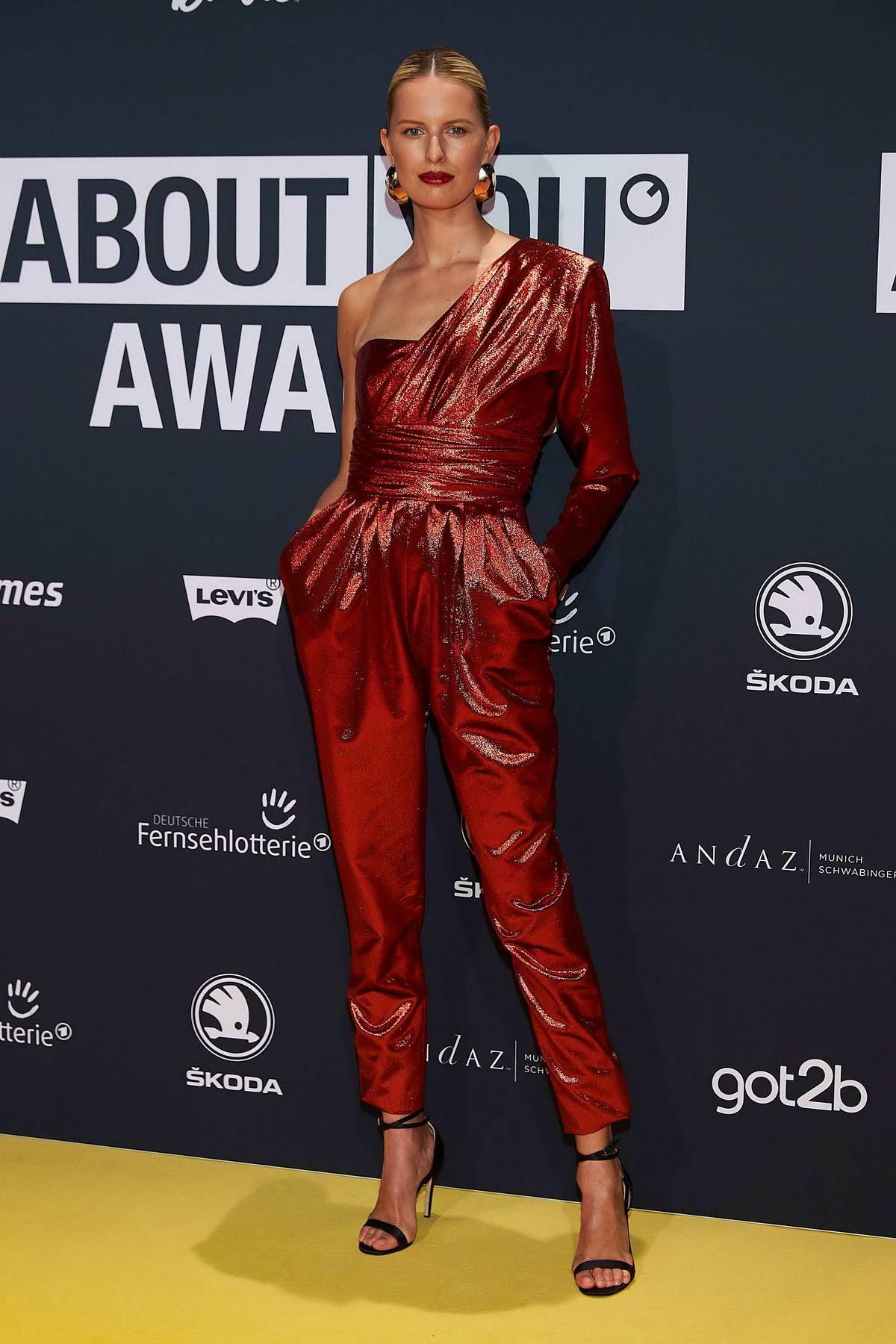 Karolina Kurkova attends the 2019 About You Awards at Bavaria Studios in Munich, Germany