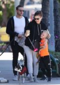 Kate Mara steps out for coffee with husband Jamie Bell and his Son in Los Angeles