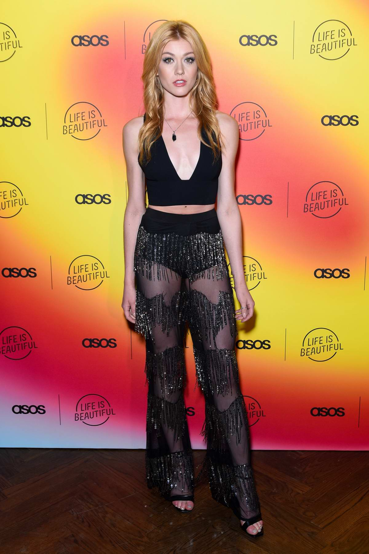 Katherine McNamara attends the ASOS 'Life Is Beautiful' party at No Name in Los Angeles