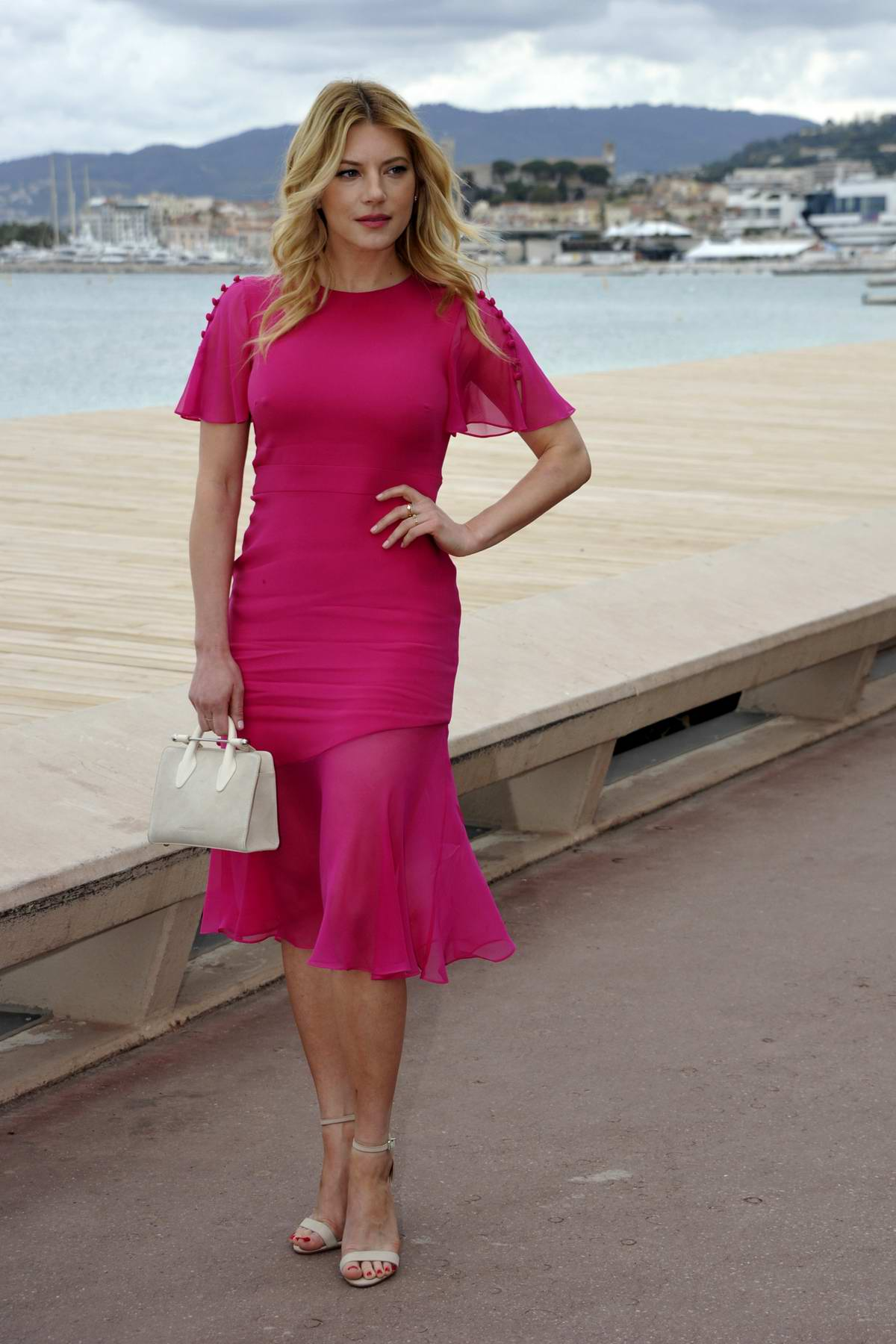 Katheryn Winnick at the 2nd Canneseries International Series Festival, Day Two in Cannes, France