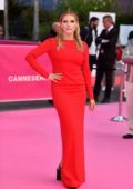 Katheryn Winnick at the Pink Carpet during the 2nd Canneseries - International Series Festival - Day 5 in Cannes, France