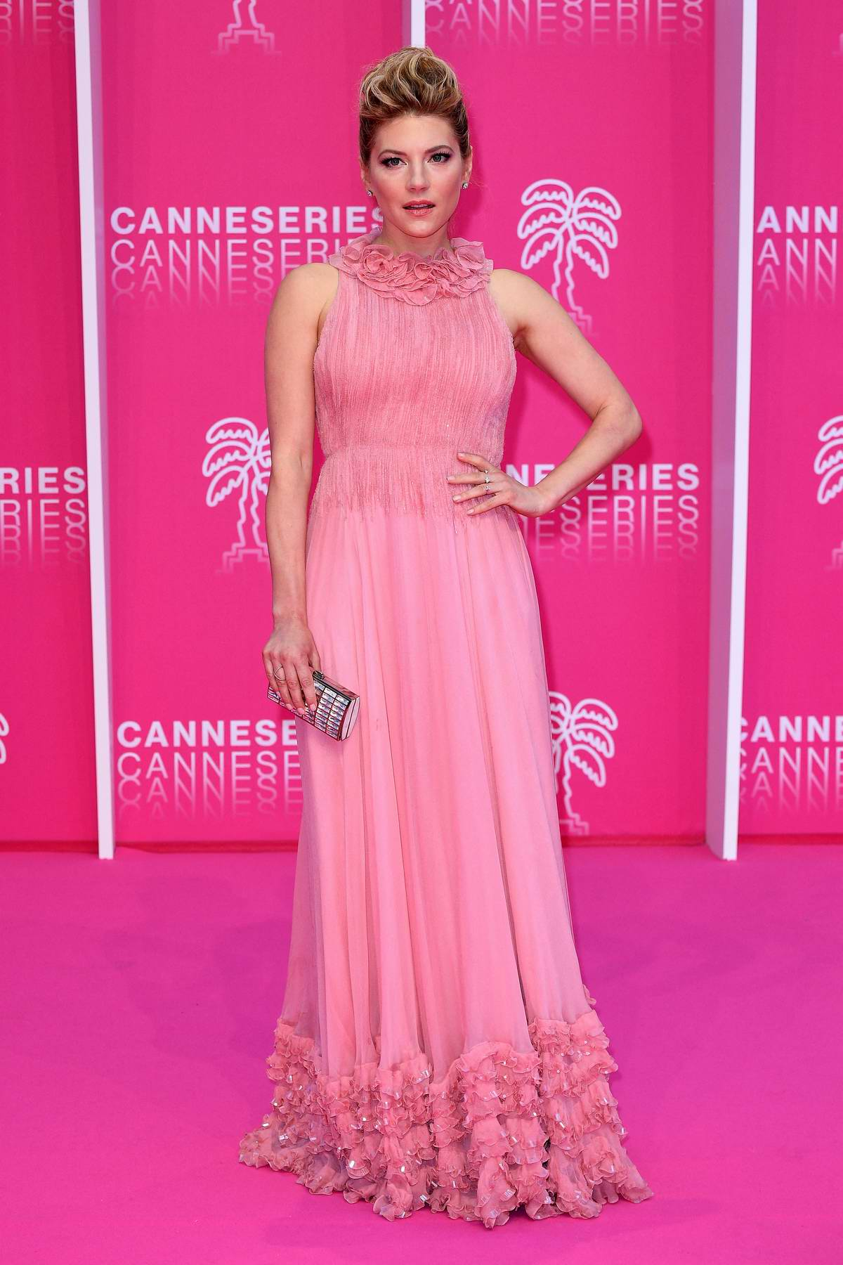 Katheryn Winnick attends the closing ceremony of the 2019 Cannes International Series festival in Cannes, France