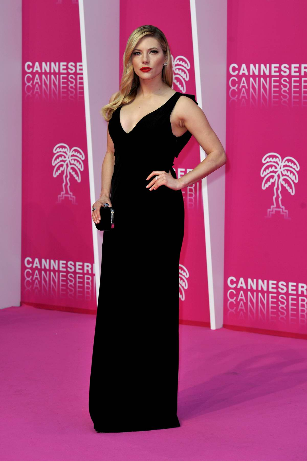 Katheryn Winnick attends 'The Rook' premiere during the 2nd Canneseries International Series Festival - Day 04 in Cannes, France