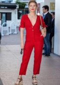 Katheryn Winnick looks stunning in a red jumpsuit during the 2nd Canneseries International Series Festival - Day 04 in Cannes, France