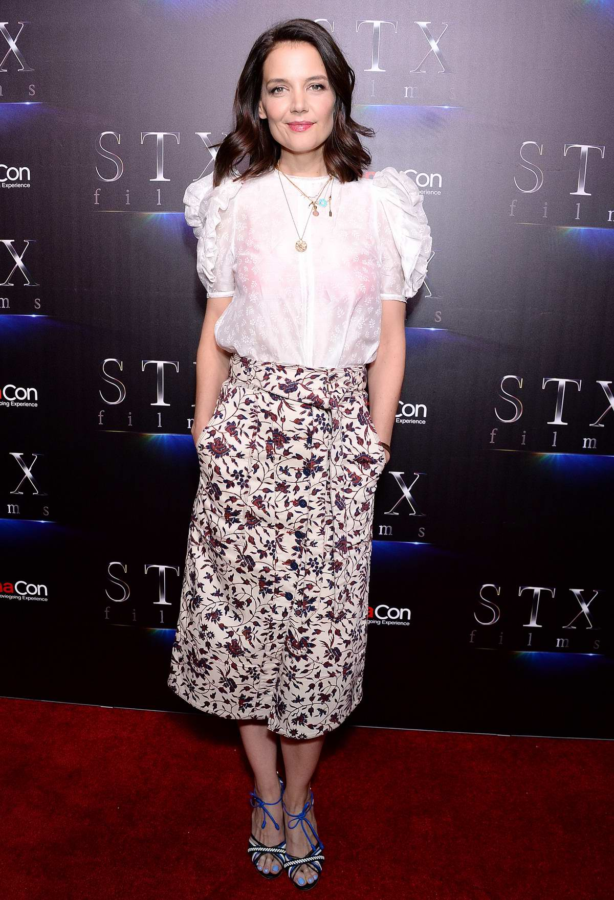 Katie Holmes attends The State of the Industry: Past, Present and Future STX films at CinemaCon in Las Vegas, Nevada
