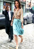 Katie Holmes seen leaving Untold Stories Luncheon in New York City