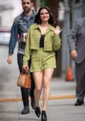 Katie Stevens is all smiles as she arrives for her appearance on 'Jimmy Kimmel Live' in Hollywood, California