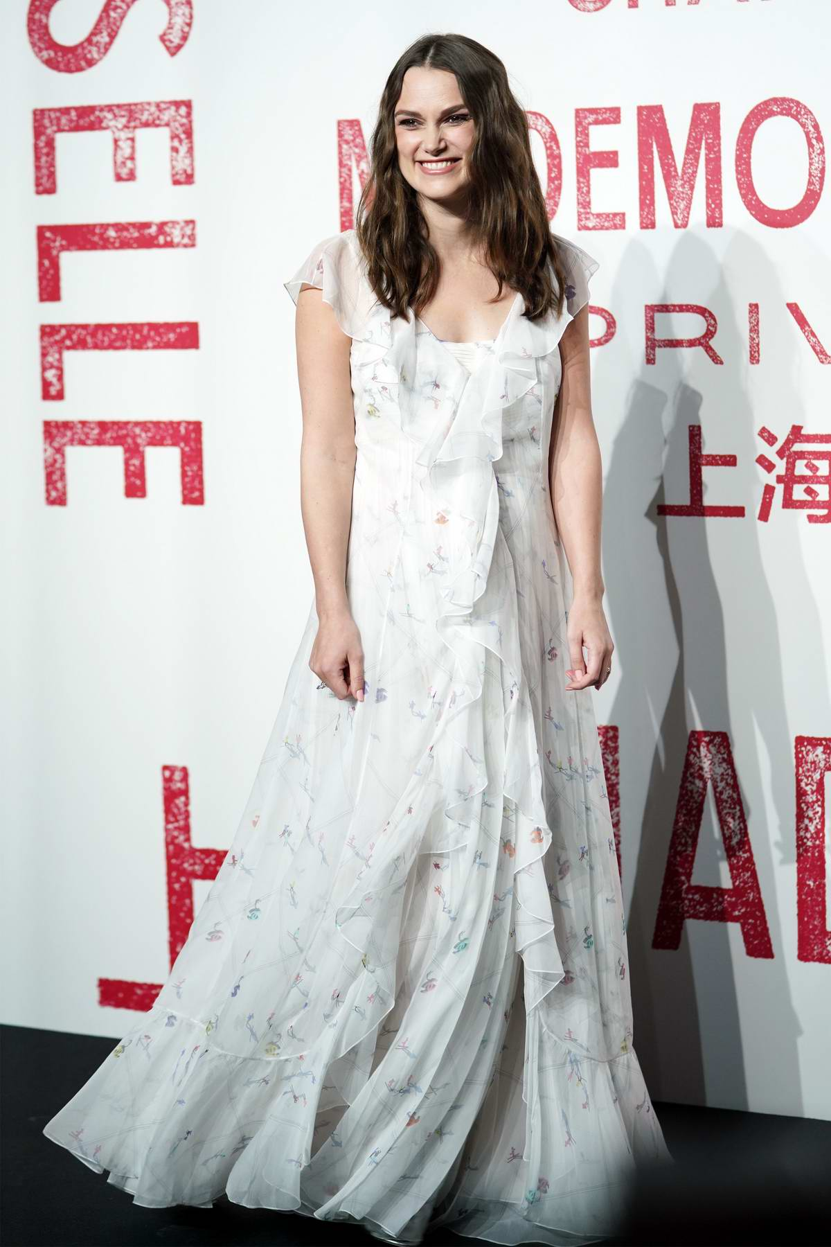 Keira Knightley attends the Chanel Mademoiselle Prive exhibition in Shanghai, China