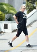 Kesha is spotted getting in an early workout in Santa Monica, California