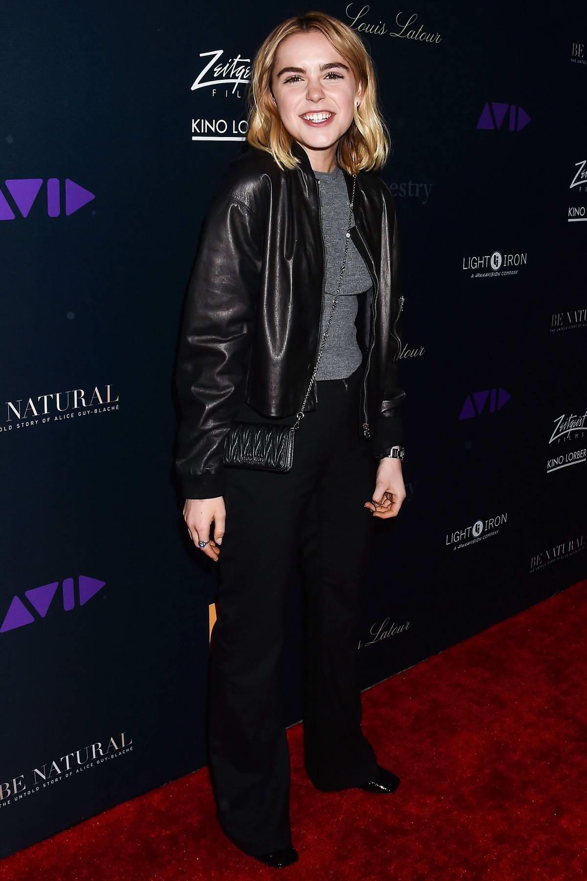 Kiernan Shipka attends 'Be Natural: The Untold Story of Alice Guy-Blache' Film Premiere in Los Angeles