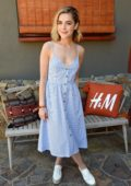 Kiernan Shipka attends Poolside with H&M at Sparrow's Lodge in Palm Springs, California