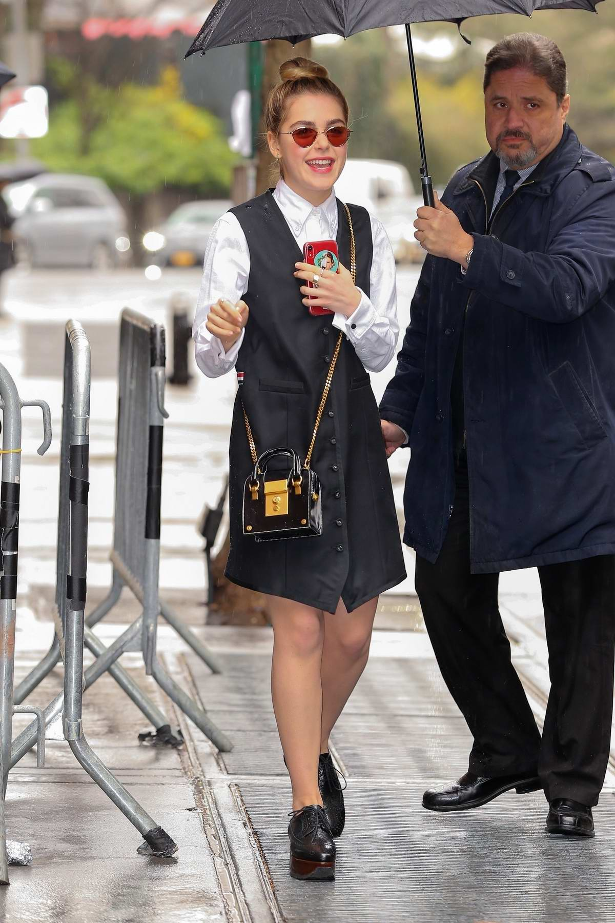 Kiernan Shipka looks cute in Thom Browne as she steps out in New York City