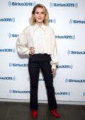 Kiernan Shipka visit SiriusXM Studios in New York City