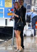 Kristin Cavallari spotted in a short black dress as she leaves 'Good Morning America' in New York City