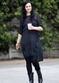 Krysten Ritter is all smiles as she grabs lunch with Adam Granduciel at Verve Coffee in West Hollywood, Los Angeles