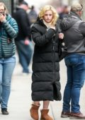 Lili Reinhart spotted in a long puffer jacket and UGG boots as she arrives to the set of 'Hustlers' in New York City