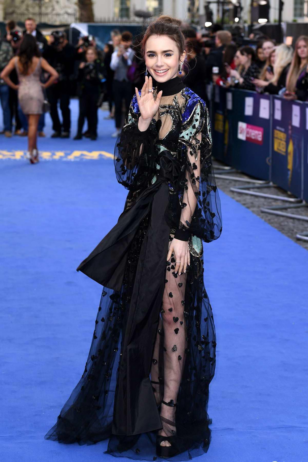 Lily Collins attends the European Premiere of 'Extremely Wicked, Shockingly Evil and Vile' at Curzon Mayfair in London, UK