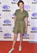 Maggie Grace attends 'Fear The Walking Dead' Panel at WonderCon 2019 in Anaheim, California