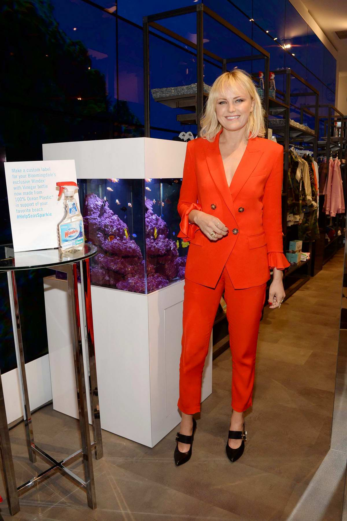 Malin Akerman unveils New Windex at Bloomingdale's in New York City