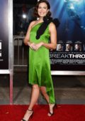 Mandy Moore attends the premiere of 'Breakthrough' at Westwood Regency Theater in Los Angeles