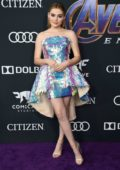 Meg Donnelly attends the World Premiere of 'Avengers: Endgame' at the LA Convention Center in Los Angeles