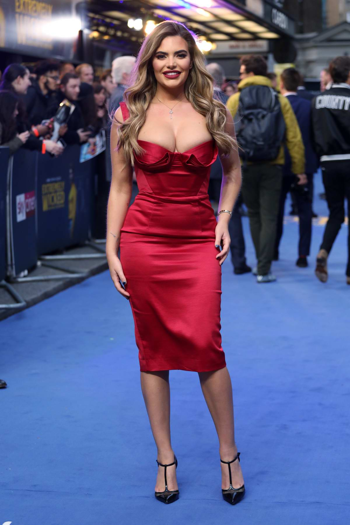 Megan Barton-Hanson attends the European Premiere of 'Extremely Wicked, Shockingly Evil and Vile' at Curzon Mayfair in London, UK