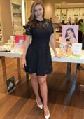Miranda Kerr visits beauty retailer Space NK to celebrate the launch of Kora in London, UK