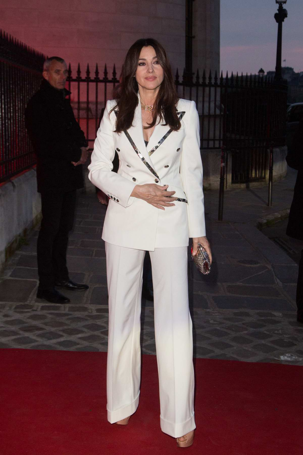 Monica Bellucci attends Clash De Cartier Photocall at La Conciergerie in Paris, France