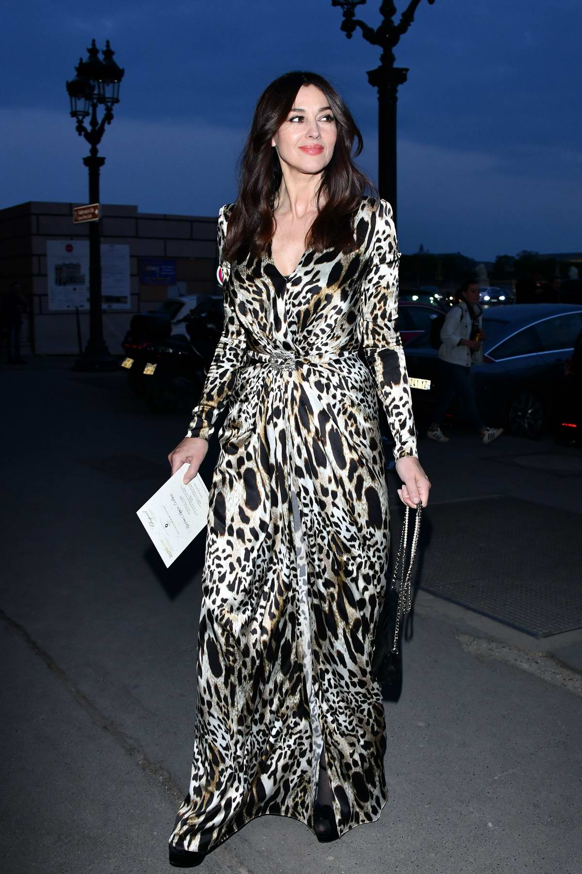 Monica Bellucci attends the Diner du Cinéma Madame Figaro at L'Automobile Club de France in Paris, France
