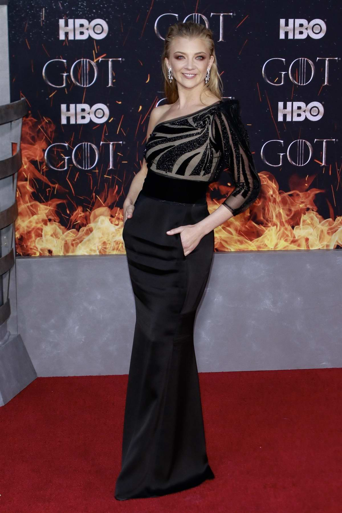 Natalie Dormer attends the Season 8 premiere of 'Game of Thrones' at Radio City Music Hall in New York City