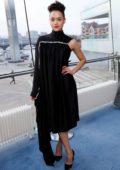 Nathalie Emmanuel attends 'Game of Thrones' premiere held at Waterfront Hall in Belfast, Northern Ireland