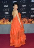 Nathalie Emmanuel attends the Season 8 premiere of 'Game of Thrones' at Radio City Music Hall in New York City
