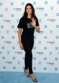 Nina Dobrev attends the WE Day California 2019 at the Forum in Inglewood, California