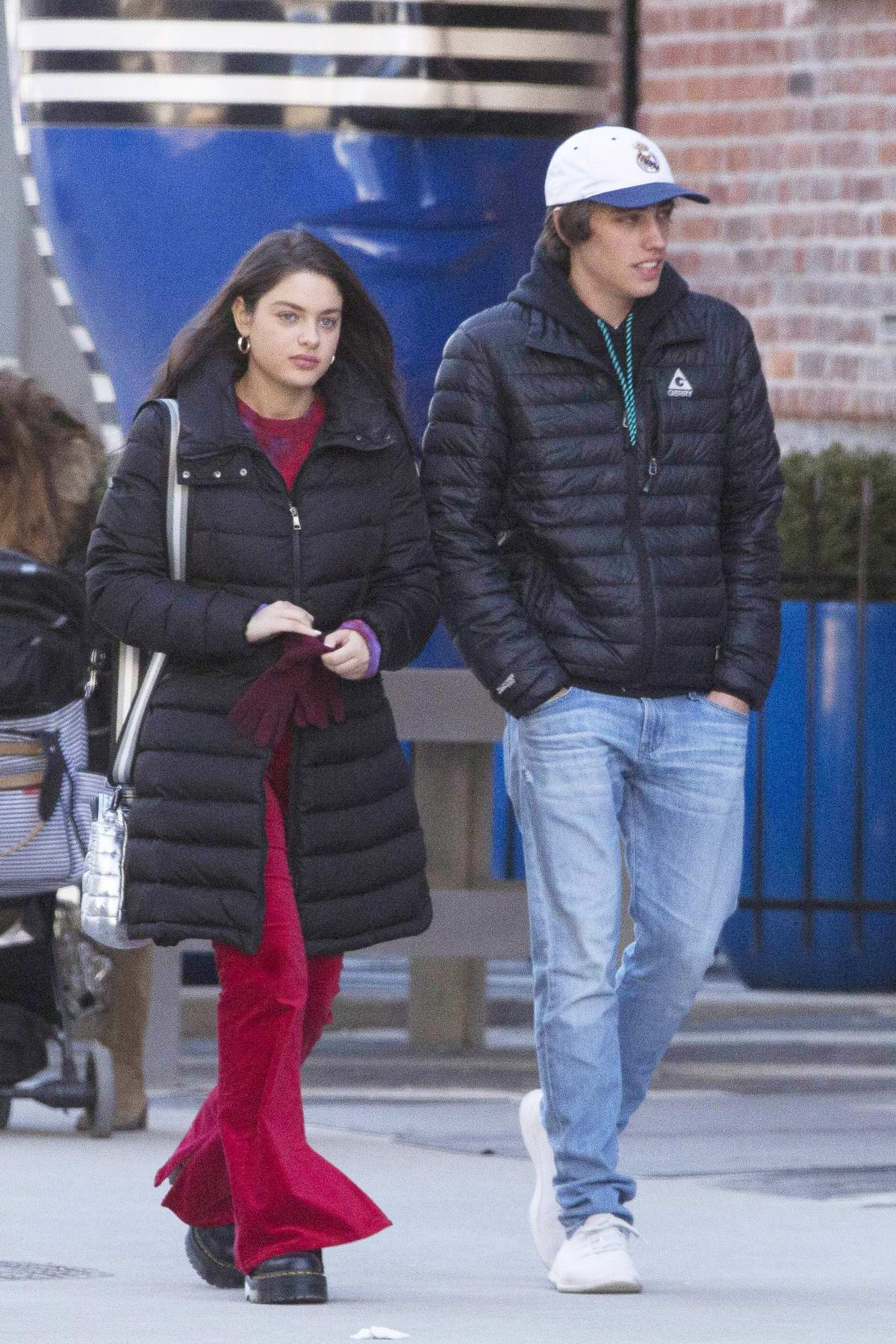 Odeya Rush steps out for a walk with Ryan Lee in Toronto, Canada