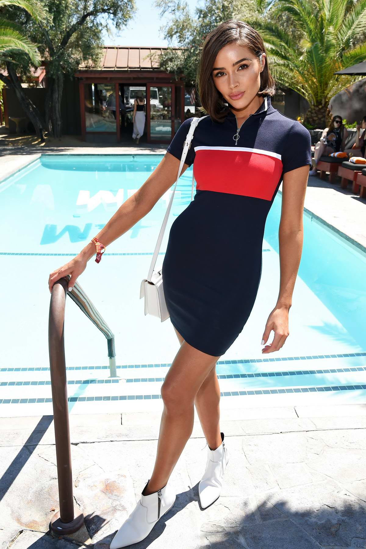 Olivia Culpo attends Poolside with H&M at Sparrow's Lodge in Palm Springs, California