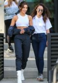 Olivia Culpo shows off her toned abs in crop top while house hunting with BFF Cara Santana in Los Angeles