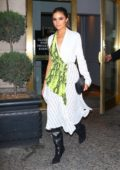 Olivia Culpo looks stunning as she leaves Off-White dinner at L'Avenue in New York City