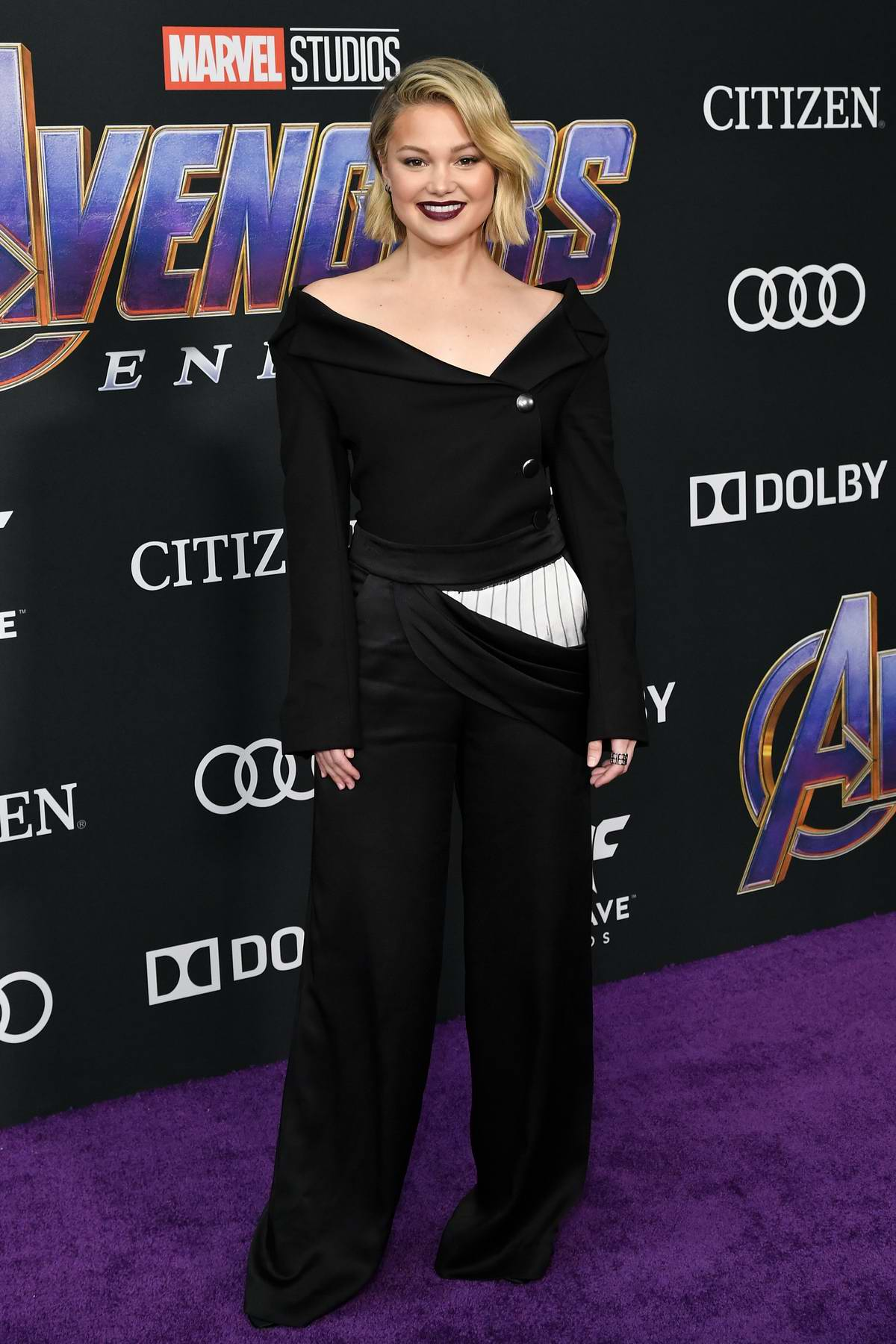 Olivia Holt attends the World Premiere of 'Avengers: Endgame' at the LA Convention Center in Los Angeles