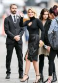 Olivia Holt looks amazing in all black as she arrives for her appearance on Jimmy Kimmel Live! in Hollywood, Califoria