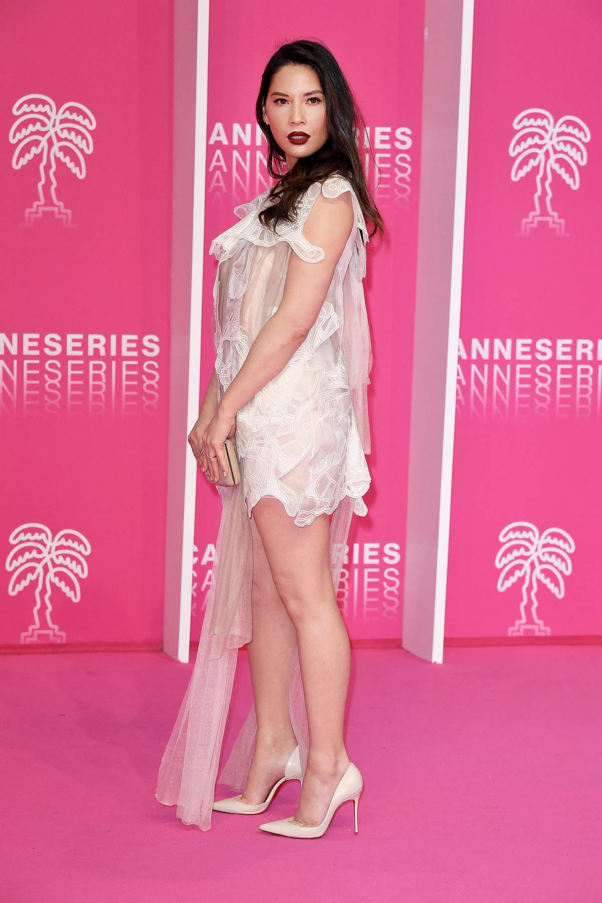 Olivia Munn attends the 2nd Cannesseries at the Palais Des Festivals in Cannes, France