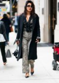 Priyanka Chopra dons a frilly, patterned jumpsuit while out in Tribeca, New York City