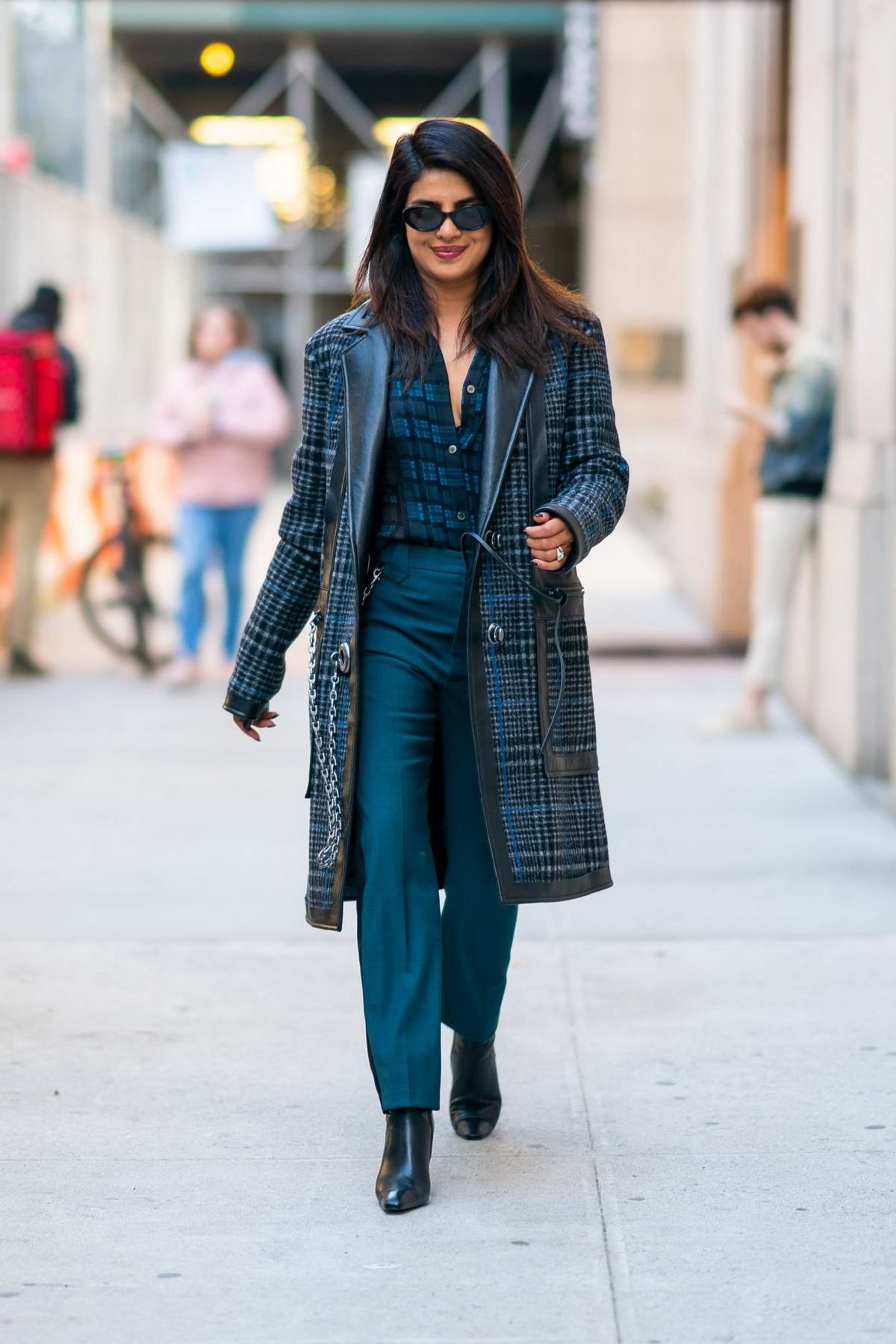 Priyanka Chopra seen out and about in a blue ensemble in Tribeca, New York City