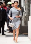Priyanka Chopra steps out in a grey ensemble in New York City