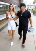 Rachel McCord and husband Rick Schirmer pack on the PDA after lunch in Marina Del Rey, California