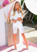 Romee Strijd attends the Revolve Festival at Coachella in Indio, California