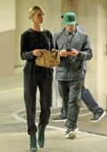 Rosie Huntington-Whiteley and Jason Statham visit a medical building In Beverly Hills, Los Angeles